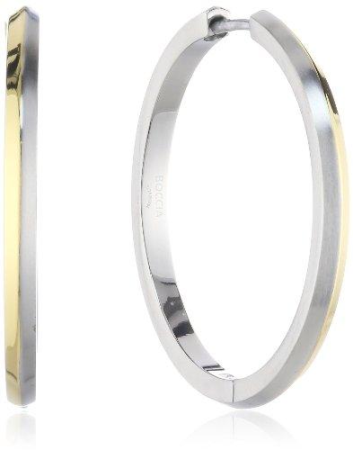 Boccia Damen-Creole Titan teilweise goldplatiert 0571-02