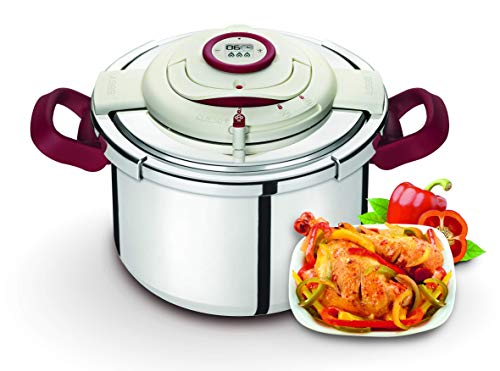 Seb Clipso P4411506 Pressure Cooker Programmierbarer Timer Genauigkeit ohne Griffe geöffnet Faltbare Effort Inox 10 L