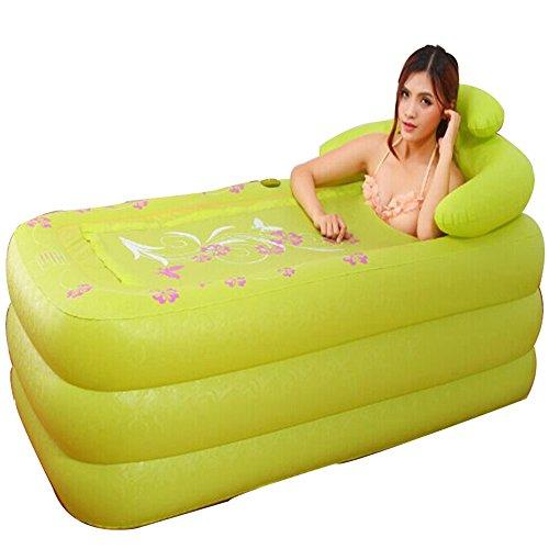 GFL-Bathtub Baignoire Gonflable Pliable pour Adulte en PVC Vert Rose