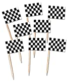 Beistle 60104 50-Pack Checkered Markierungsfahnen-Auswahl, 21/2-Zoll