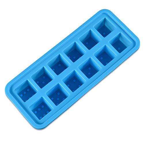 perfeclan Silikon-Eiswürfelschalen für Whisky, Cocktails, Suppen, Babynahrung und Tiefkühlprodukte - flexibel und BPA-frei - Himmelblau