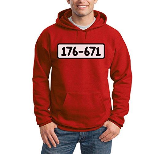 Panzerknacker Shirt Kostüm Karneval Fasching Kapuzenpullover Hoodie Medium Rot