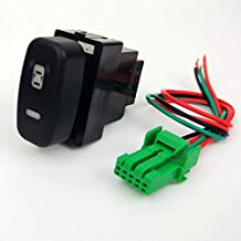 $29 » CSW05350 Replacement Part for Car DRL LED Fan Fog Light Front Camera Recorder Monitor Radar Parking Sensor Switch Button W...
