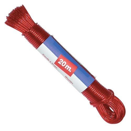 Metaltex - Cuerda de acero plastificada para tendedero, 20 m, colores aleatorios