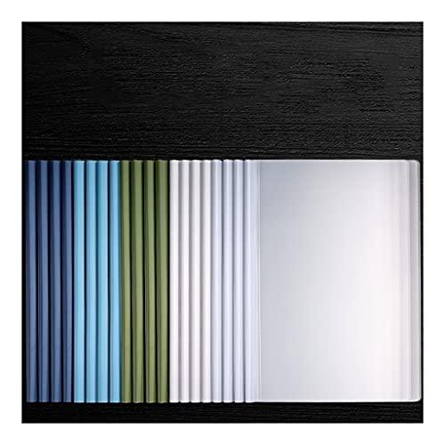 Cartelle portadocumenti 20 Pack Covers Bar Rapporto di annullamento scorrevole, trasparente Riprendi presentazione File delle cartelle Organizer Binder for carta in formato A4 (60 fogli Capacità) Cart