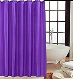 KAV - Duschvorhänge, Duschvorhang aus Polyester, Anti-Schimmel, Anti-Bakteriell, Schimmelresistenter & Wasserabweisend mit 12 Duschvorhangringen, 180 x 180 cm, lila Beere