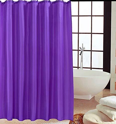 KAV - Duschvorhänge, Duschvorhang aus Polyester, Anti-Schimmel, Anti-Bakteriell, Schimmelresistenter & Wasserabweisend mit 12 Duschvorhangringen / 180 x 220 cm Beere lila Farbe