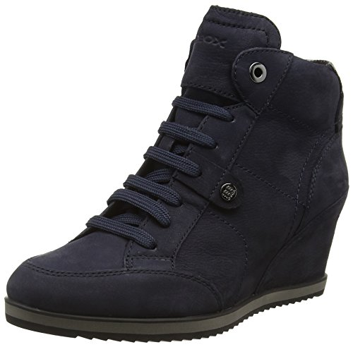Geox D Illusion A, Zapatillas Alta para Mujer, Azul (DK NAVYC4021), 41 EU