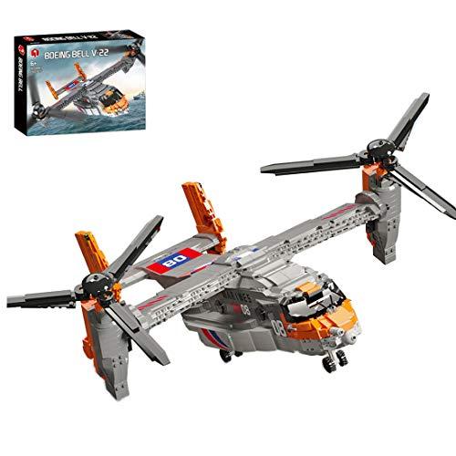 SESAY Technik V-22 Osprey - Juego de construcción de 1466 piezas, modelo de helicóptero técnico, compatible con la técnica Lego