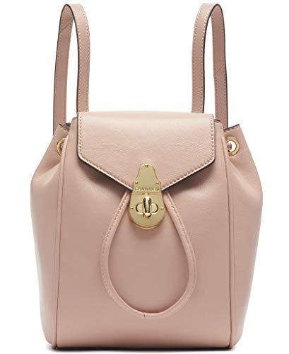 Calvin Klein Damen Soft Lock Lammleder Klein Convertible Rucksack & Crossbody, Pink (Pale Rose), Einheitsgröße