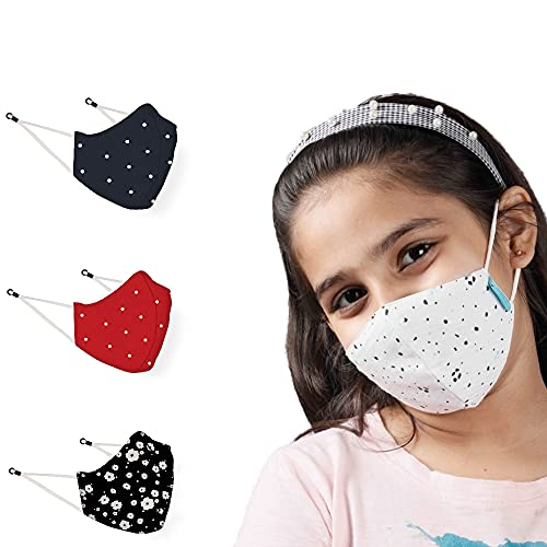 Maple MP-21 Face Mask for Kids | Reusable and Washable | 3 Layer Filtration | Anti Pollution | Cotton Protective kid Mask | Fashionable for Girl Boys Unisex (4, Kids Age 7-12 Years)