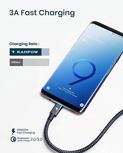 Rampow USB C Kabel 0.33M Grau