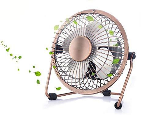 Alihoo Mini-USB-ventilator, ultra stil, vintage metalen coole ventilator voor op het bureau, thuis, op kantoor en in de kamer