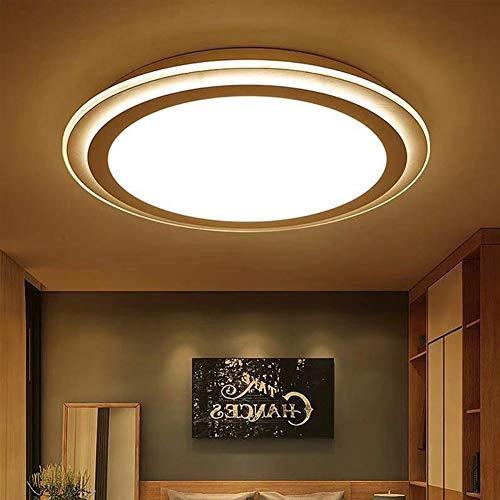 ZXjuan Ring, meervoudig, voor slaapkamer, woonkamer, slaapkamer, eenvoudig, Scandinavisch, modern, warm, creatief, LED, plafondlamp, met afstandsbediening