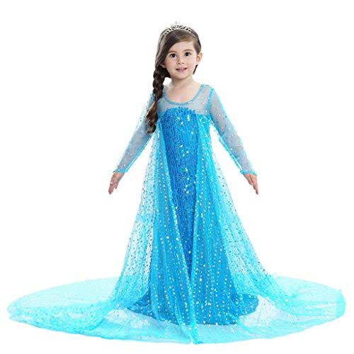 Morran Disfraz De Elsa Anna para Nias, Disfraz De Elsa Disfraz De Princesa, para Fiesta De Disfraces De Cosplay, Bodas, Halloween