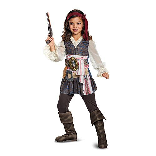 Disguise POTC5 Captain Jack Sparrow Girl Classic Costume,  Multicolor,  Small (4-6X) - http://coolthings.us