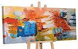 YS-Art Cuadro Acrílico Pared de deseos| Pintado a Mano | 115x50 cm | Arte Moderno |...