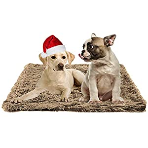 Agkey Pet Blanket Dog Beds Crate Pad Mat 39″x 28″ Pet Bed Reversible Comfortable Pet Sleeping Pad Reusable Washable Warm Bed Mat Cat Beds Dog Mattress Kennel Pad Large