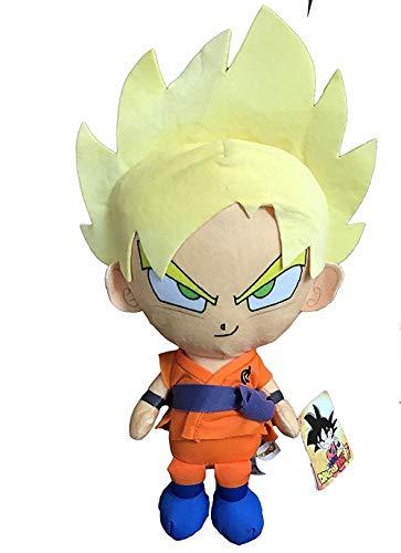 Play y Play Peluche Son Goku Super Saiyan Biondo Dragon Ball Super 36 CM