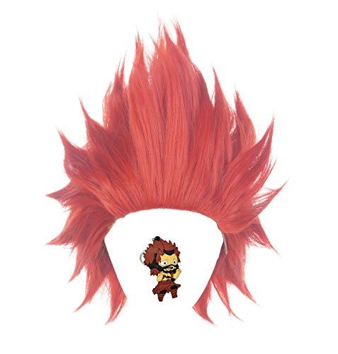 ZeroGoo Anime Mha Bnha Eijiro Kirishima Cosplay Wig Include Wig Cap for Women Men Kid Halloween Costume Cosplay (Red)