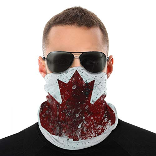 Canada Flag Maple Leaves Multifunctional Headwear Face Covering Headband Neck Gaiter