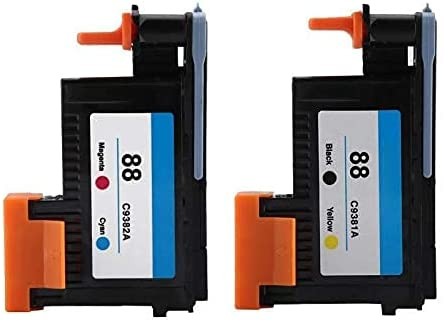 zzsbybgxfc Accessories for Printer PRTA34166 Printhead for HP 88 C9381A C9382A for K5300 K8600 L7380 L7680 Series - (Type: Red Black) (Color : Red Black)