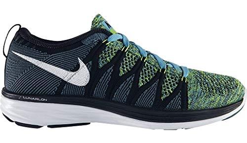 Nike Flyknit Lunar 2 Damen Turnschuhe - blau/schwarz/weiß, 36