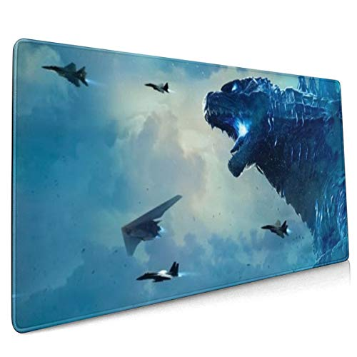 King Of The Monsters Godzilla Extended Gaming Mouse Mat, DIY Custom Professional Mouse Pad (35.5x15.8In),Desk Pad Keyboard Pad Mat, Water-Resistant, Non-Slip Base, For Work & Gaming, Office & Home