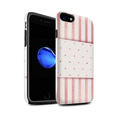 eSwish telefoonhoesje/Cover/Skin/IP-3DTBG / Rose Gold Pink Fashion Trend Collection Apple iPhone 8 Thin Pin Stripes Dotty Band