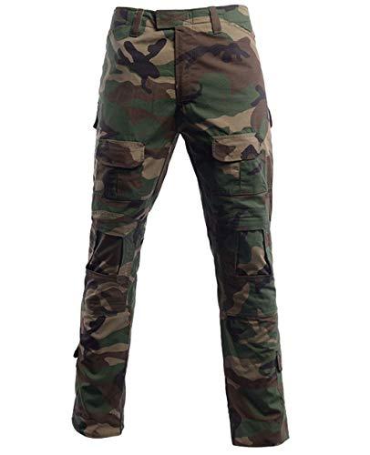 LANBAOSI Men's Airsoft Pants Multicam Tactical Military Camo Hunting Combat Cargo Uniform Pants