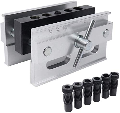 DHA Drilling Guide Positioner Self Centering Locator Woodworking Self Centering Doweling Jig Tool