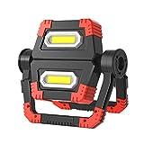 T-SUN Foco LED Recargable, 30W Luz de Trabajo Portátil, Resistente al Agua IP65, 5000mAh, Luz de Trabajo de Construcción Emergency, Rotación de 360 ° Adecuado para Interiores y Exteriores.