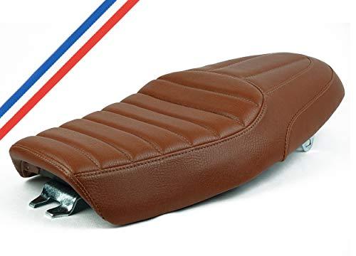 asiento CAFE RACER universal Scrambler con biplace marrón c