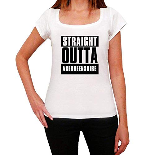 One in the City Straight Outta Aberdeenshire, Camiseta para Mujer, Straight Outta...