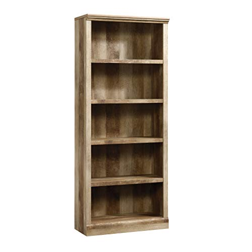 Sauder East Canyon 5 Shelf Bookcase, Craftsman Oak finish