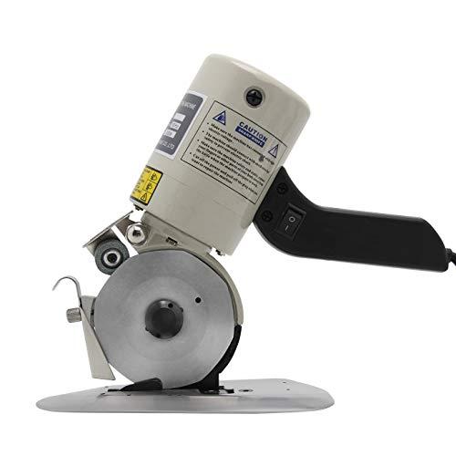 Hanchen 電動カッター 切断厚み25mm(0.98インチ) 手持ち式切断機 厚手の布/レザー/合皮/雑材などを切る用に Φ90mm替刃 YJ-90B (110V)