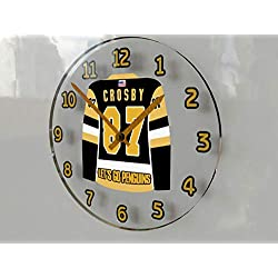 FanPlastic Sidney Crosby 87 Pittsburgh Penguins Wall Clock - ICE Hockey League Legends Edition !!