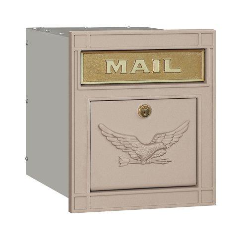 Salsbury Industries 4145E-BGE Cast Aluminum Column Mailbox Locking Eagle Door, Beige