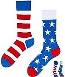 TODO Colours Lustige Socken mit Motiv - Mehrfarbige, Bunte, Verrückte für Herren & Damen (43-46, Amerika to Go)