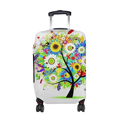 Árboles Flores patrón de Dibujo Colorido Estampado Protector de Equipaje de Viaje...