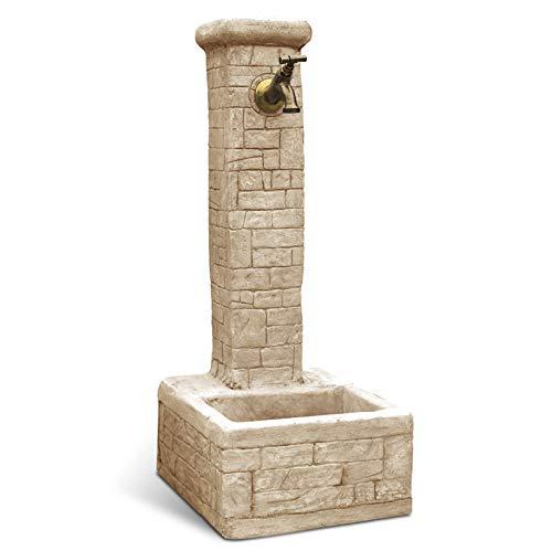 Fontana da Giardino Esterno in Cemento Pietra KAM modello IGLESIAS colore grigio