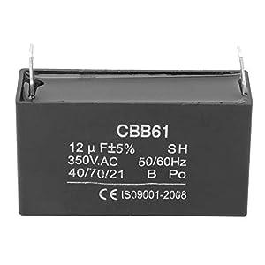 Condensador - CBB61 Condensador Generador de gasolina Condensador de motor de aire acondicionado de arranque 350VAC 12UF