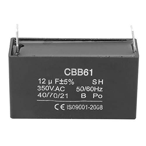 CBB61 Kondensator, Benzingenerator Startklimaanlage, Motorkondensator 350VAC 12UF Mit Befestigungsbohrung