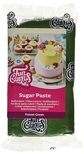 FunCakes Pasta di Zucchero Forest Green: facile da usare, liscia,...