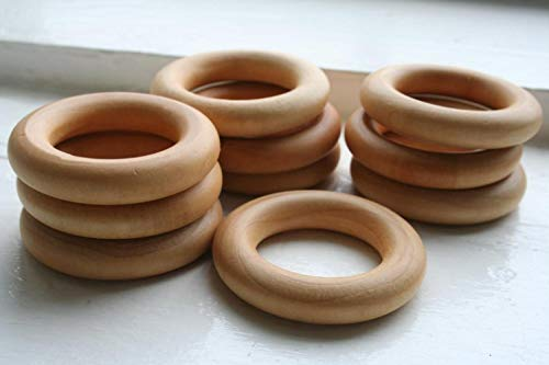 Lowest Price! ELYSIA 10 Wooden Teething Rings - Essential Montessori (Pacifier)