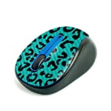 MightySkins Carbon Fiber Skin for Logitech M325 Wireless Mouse - Teal Leopard, Protective, Durable Textured Carbon Fiber Finish, Easy to Apply | Made in The USA (CF-LOGM510-Teal Leopard)