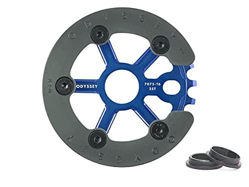 Odyssey BMX Utility Pro Guard - Plato para bicicleta (25 dientes, 19 mm, 22 mm, 24 mm), color azul