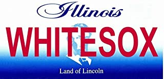 WHITESOX Illinois Novelty State Background Vanity Metal License Plate Tag Sign