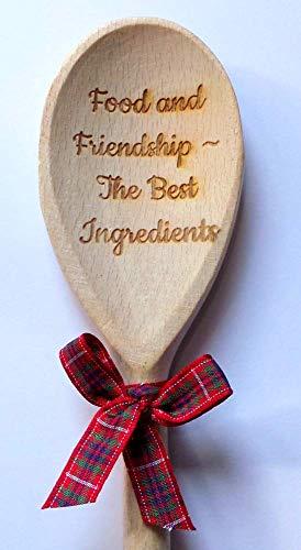 Food & friendship The best ingredient Wooden Spoon ~ Novelty Joke Gift