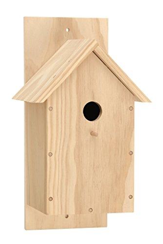 Glorex Vogelhaus Kiefer DIY, FSC, Holz, Natur, 34,6 x 14 x 5 cm